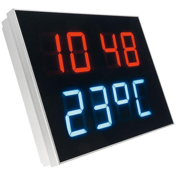 ELV Bausatz Multifunktions-LED-Display mit Funkuhr und Temperaturanzeige MLDP1, ohne Gehäuse