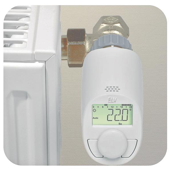 Eqiva Elektronik-Heizkörperthermostat Model N mit Boost-Funktion und leisem Kompaktgetriebe