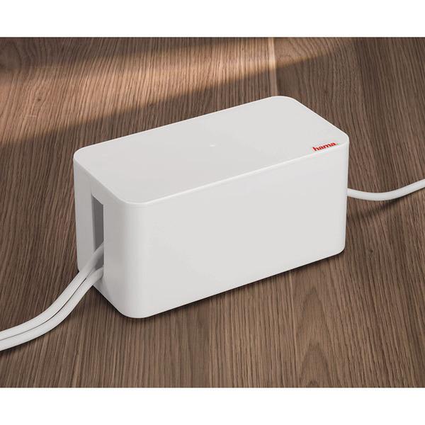 hama Mini-Kabelbox, weiß