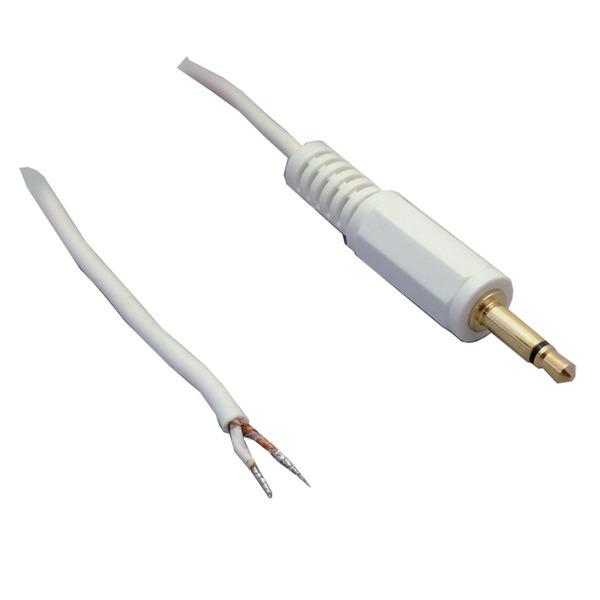 BKL Electronic Audio-Anschlusskabel, geschirmt, Klinkenstecker 2,5mm mono, vergoldet, gerade