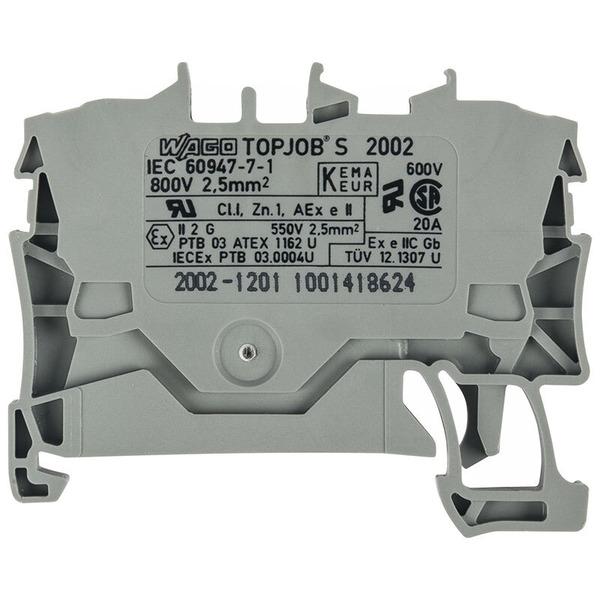 Wago 2-Leiter-Durchgangsklemme 2002-1201, Grau, 2,5 mm²