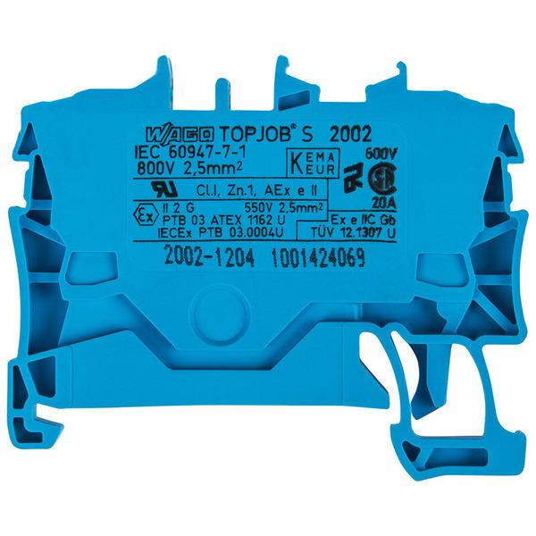 Wago 2-Leiter-Durchgangsklemme 2002-1204, Blau, 2,5 mm²