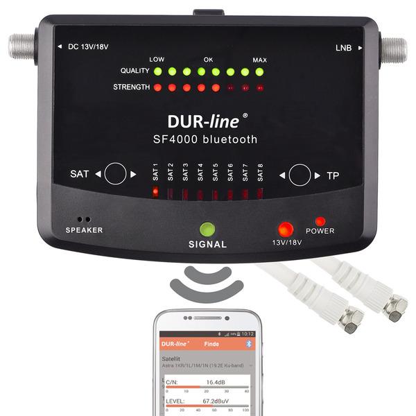 DUR-line Satfinder / Messgerät SF 4000 BT, für DVB-S/S2, Smartphone-Anbindung über Bluetooth, App fü