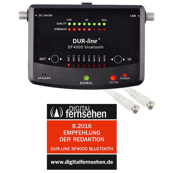 DUR-line Satfinder / Messgerät SF 4000 BT, für DVB-S/S2, Smartphone-Anbindung über Bluetooth und App
