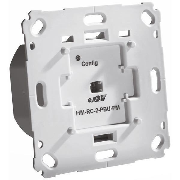 ELV Homematic Komplettbausatz Funk-Sender 2-fach für Markenschalter, 230 V, Unterputzmontage (kein A