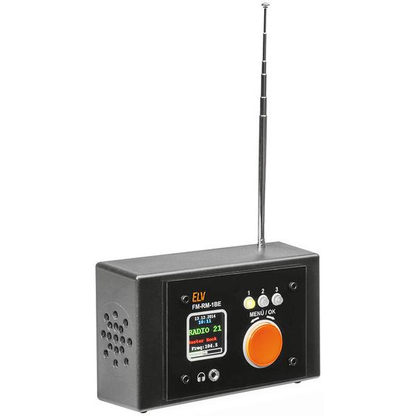 ELV FM-Receiver Modul mit Si4705, FM-RM1 inkl. Bedien- und Anzeigeeinheit FM-RM1BE, Komplettbausatz