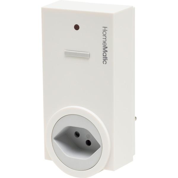 Homematic Funk-Schaltaktor 1fach mit Leistungsmessung, Zwischenstecker Typ J HM-ES-PMSw1-Pl-DN-R5