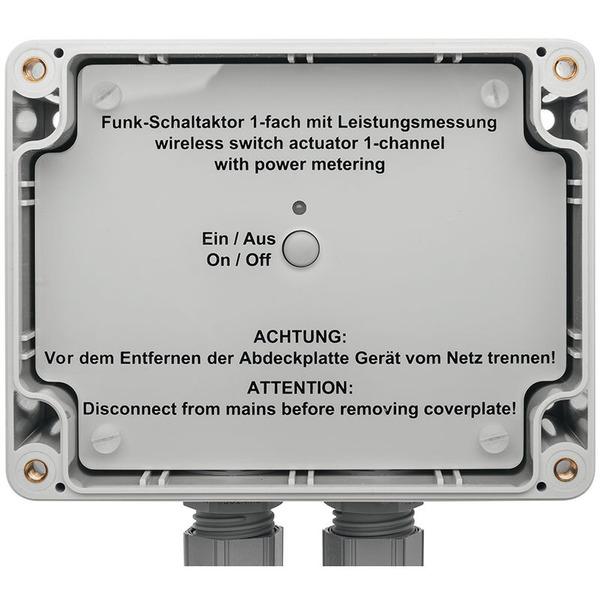 ELV Homematic Komplettbausatz 1-Kanal-Funk-Schaltaktor mit Leistungsmessung HM-ES-PMSw1-SM, für Smar
