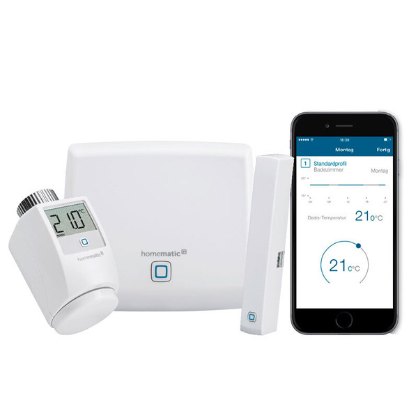 Homematic IP Starter-Set Raumklima mit Access Point, Heizkörperthermostat, Fensterkontakt HmIP-SK1