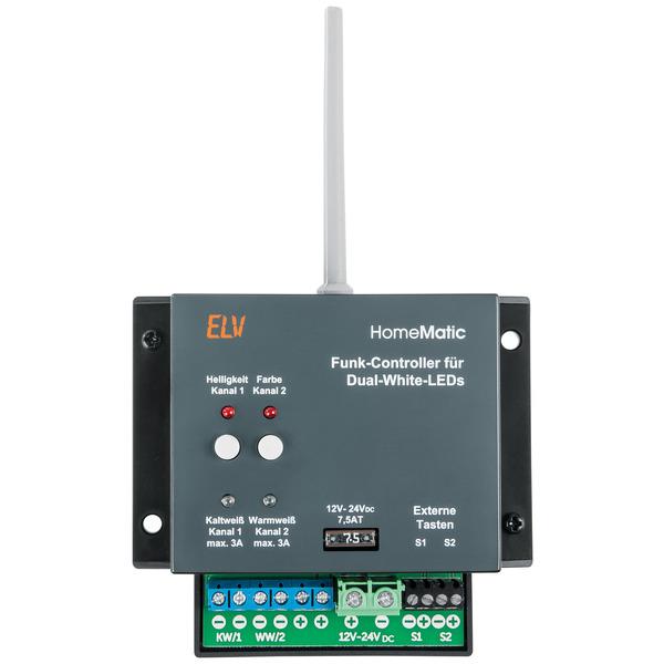 ELV Homematic Homematic Komplettbausatz Funk-Controller für Dual-White-LEDs HM-LC-DW-WM, für Smart H