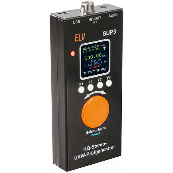 ELV HQ-Stereo-UKW-Prüfgenerator mit OLED-Display SUP3, Komplettbausatz