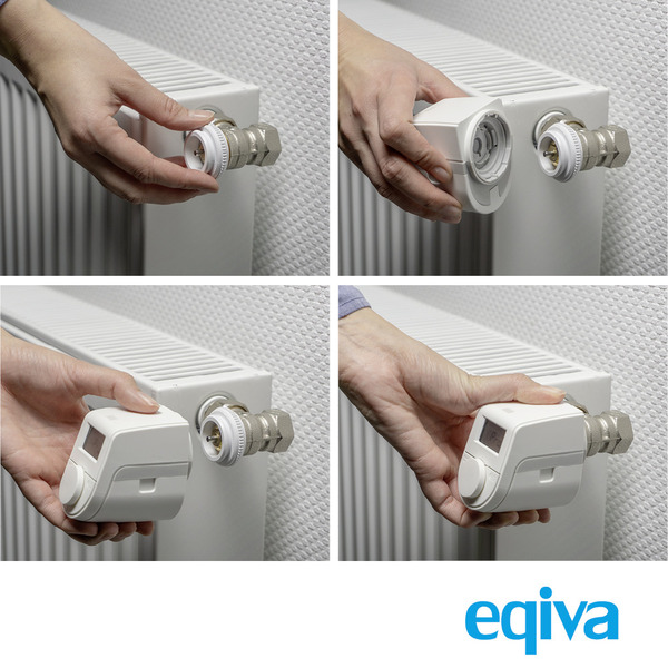 Eqiva Model Q Elektronischer Heizkörperthermostat mit Click-on-Adapter