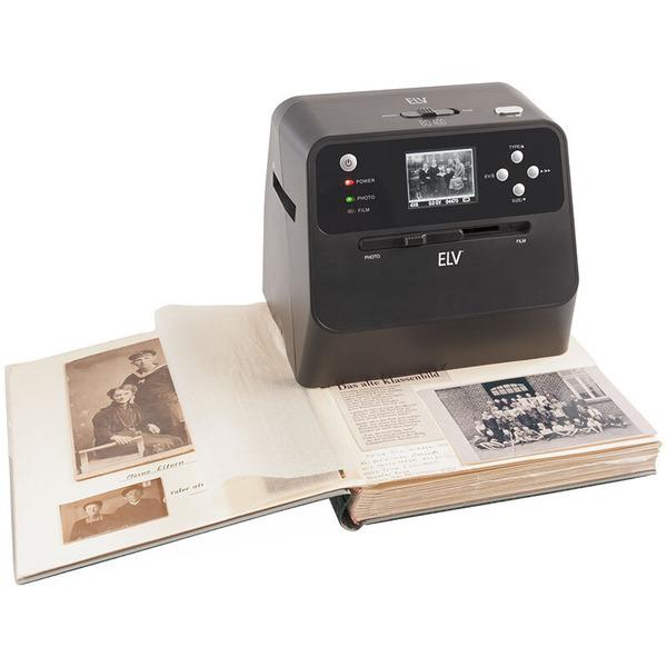 """ELV 4-in-1-Kombi-Scanner BD400 - für Fotoalben, Bilder, Dias, Negative - Vorschaudisplay 6 cm (2,4"""")"""