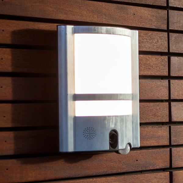 Lutec LED-Kameraleuchte VESTA ST1906-CAM mit Rekorder, Bewegungsmelder und APP, silber