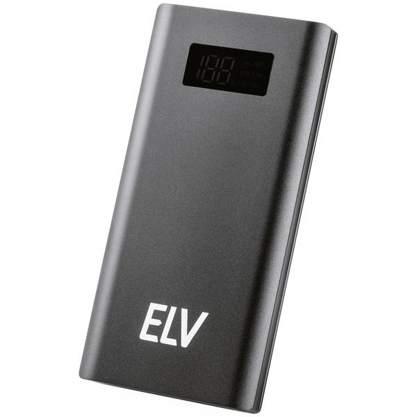 ELV Powerbank PB Dynamic, 10.000 mAh, Alugehäuse, mit LC-Display
