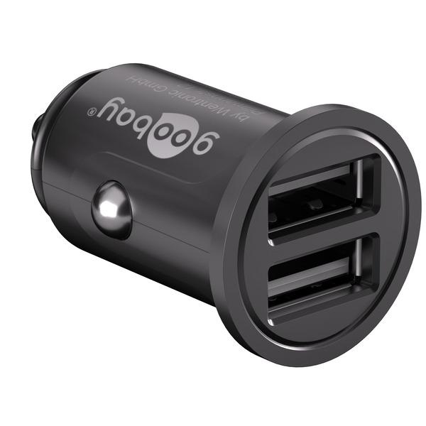 Goobay USB-Autoladegerät 4,8 A, 2 x USB 2.0-Buchse (Typ A)