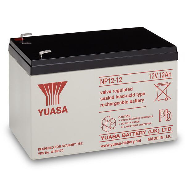 yuasa AGM Bleiakku NP12-12 mit VdS, Fastonkontakt 6,3mm, 12 V / 12 Ah