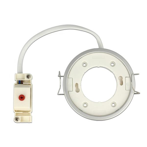 Delock Lighting GX53-Einbaufassung, rund, silber, 85 mm