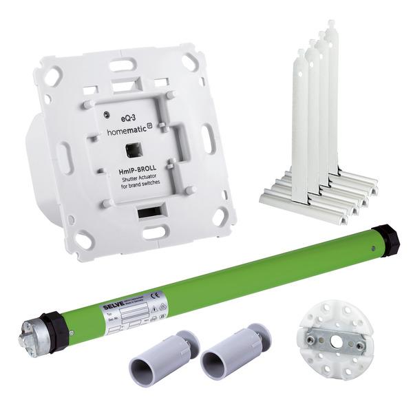 Beschattungsset für Homematic IP mit Rollladenaktor und 10-Nm elektronischer Rohrmotor