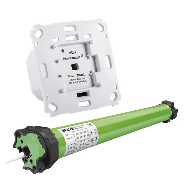 Beschattungsset für Homematic IP mit Rollladenaktor und 7-Nm elektronischer Rohrmotor