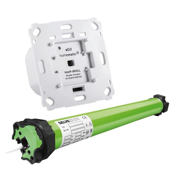 Beschattungsset für Homematic IP mit Rollladenaktor und 15-Nm elektronischer Rohrmotor