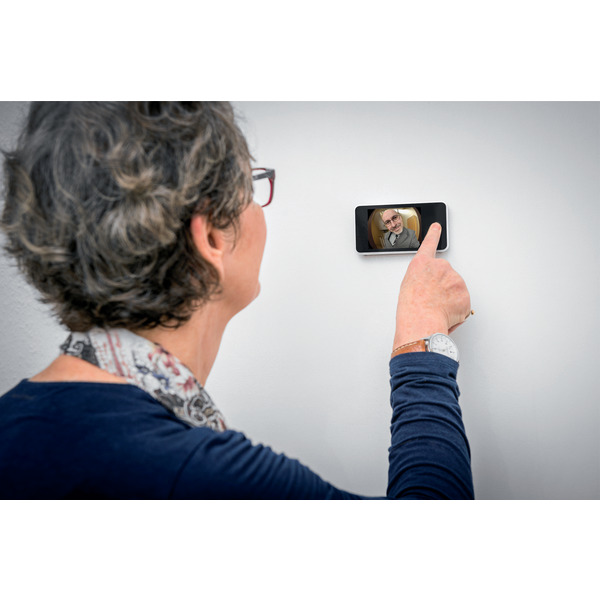 Maximex Digitaler Türspion mit 1,3 MP-Kamera und 8,1-cm-Farbdisplay