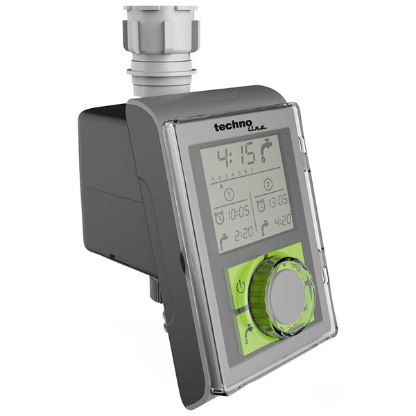technoline Bewässerungscomputer WZ 1000 mit Display, für Standard-Wasserhähne, batteriebetrieben