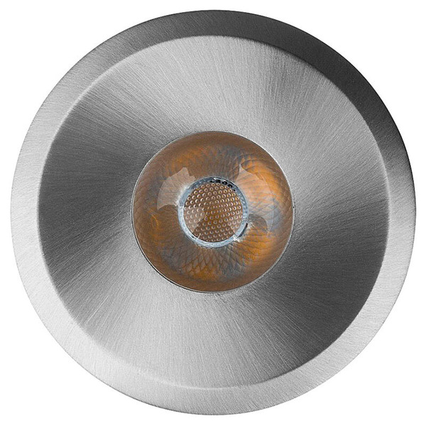 Heitronic 6-W-LED-Einbaustrahler aus gebürstetem Aluminium, rund, IP20