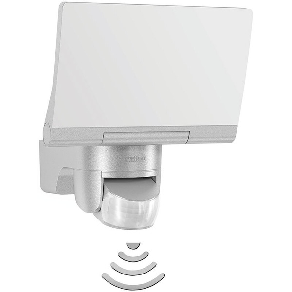 Steinel 14,8-W-LED-Flutlichtstrahler mit 140°-Bewegungsmelder, silber