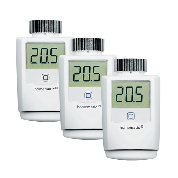 Homematic IP 3er Set Heizkörperthermostat HMIP-eTRV-2 für Smart Home / Hausautomation