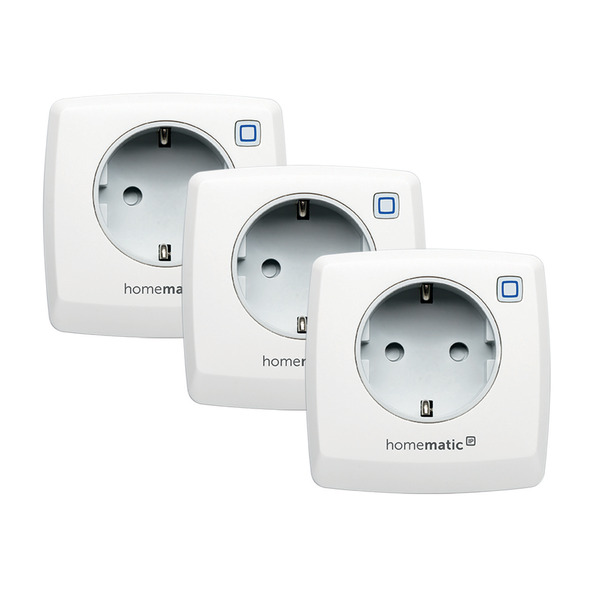 Homematic IP 3er Set Schaltsteckdose HMIP-PS für Smart Home / Hausautomation
