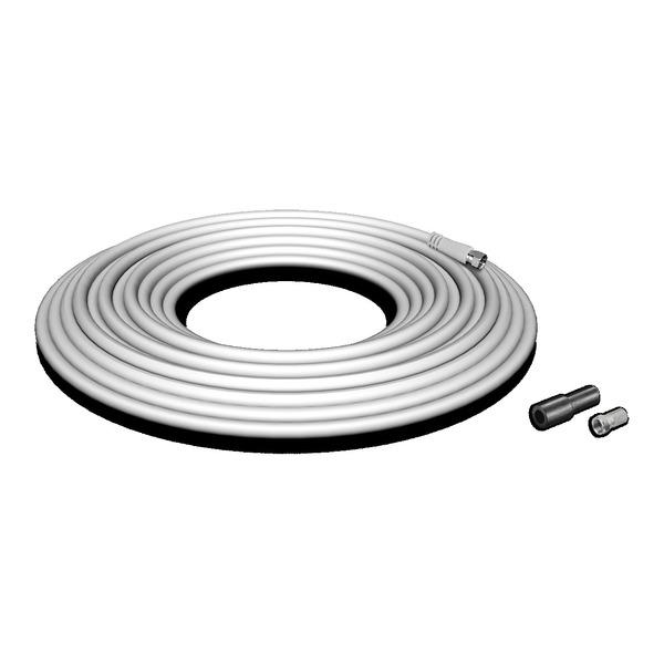 Megasat Koaxialkabel-Set 120, Schirmmaß 110 dB, 4-fach abgeschirmt, inkl. F-Stecker, weiß, 10 m
