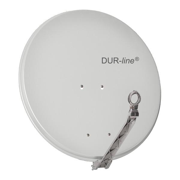 DUR-line Vollaluminium-Satellitenspiegel Select 75/80, pulverbeschichtet, extrem robust, hellgrau