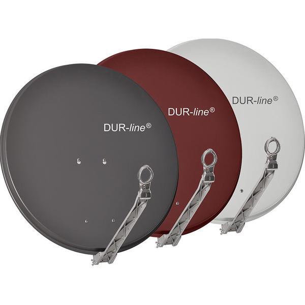 DUR-line Vollaluminium-Satellitenspiegel Select 75/80, pulverbeschichtet, extrem robust, anthrazit