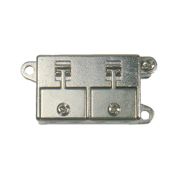 DUR-line 2-fach Mini-BK-/Sat-Verteiler, kleine Bauform, ideal für Unterputzmontage (Unterputzdosen)