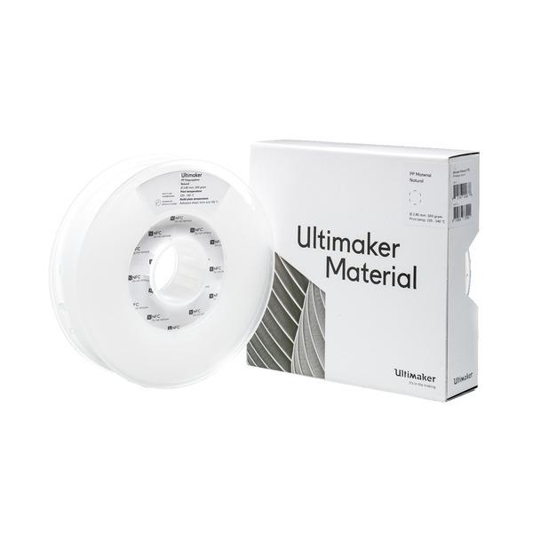 Ultimaker 3 PP-Filament, halbflexibel und langlebig, 2,85 mm, 750 g, natur