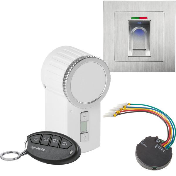 ELV Sparset mit BioKey Gate Fingerabdruckscanner, Funk-Türschlossantrieb, Funk-Tasterschnittstelle