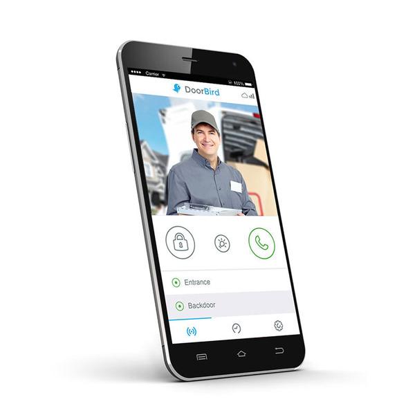 DoorBird D101 WLAN-/LAN-Video-Türsprechanlage mit App-Anbindung, weiß