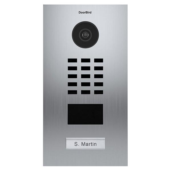 DoorBird LAN-Video-Türsprechanlage D2103V, Unterputz-Version, gebürsteter Edelstahl, Vertikal