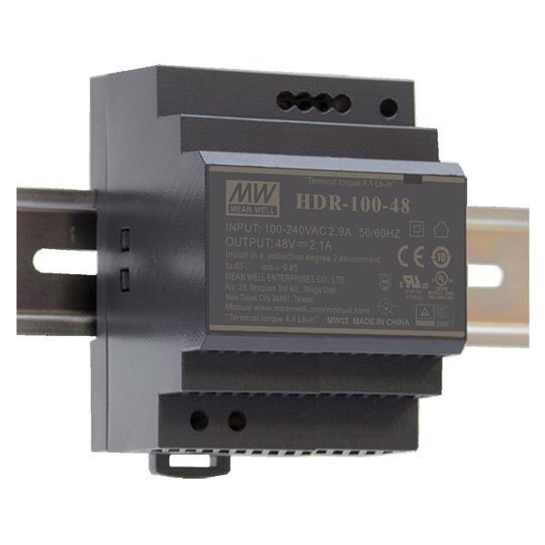 Mean Well Hutschienennetzteil HDR-100-24 24 V, 3,83 A, 92 W, für Smart Home und Haussteuerung
