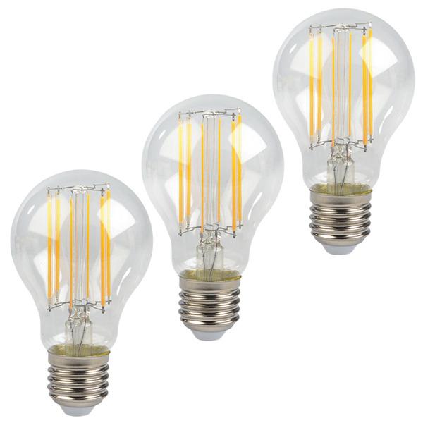 ELV 3er Set FL PREMIUM A60 7-W-LED-Lampe E27, warmweiß