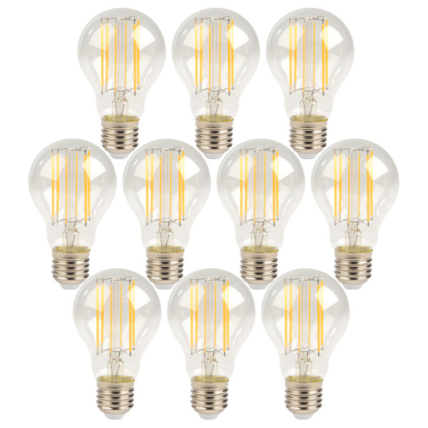 ELV 10er-Set FL PREMIUM A60 7-W-LED-Lampe E27, warmweiß