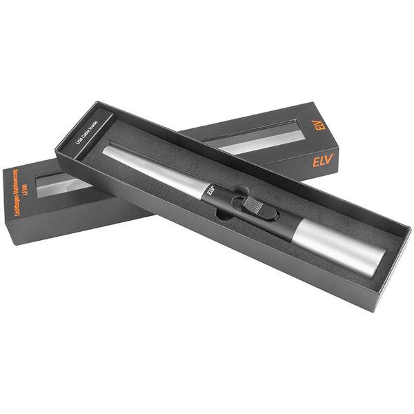 ELV Lichtbogen-Stabfeuerzeug LF100, integrierte Sicherheitsabschaltung, Akku, Metallgehäuse