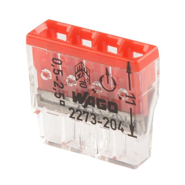 Wago Compact 2273-204 Verbindungsklemme, 4pol.