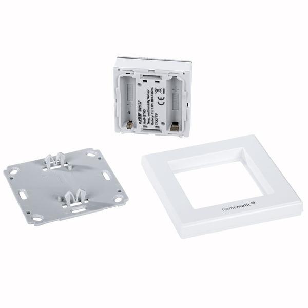 Homematic IP Temperatur- und Luftfeuchtigkeitssensor HmIP-STHD mit Display, innen