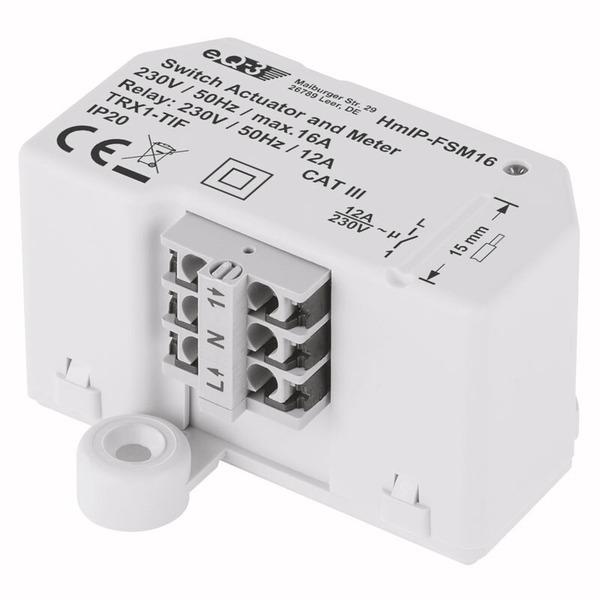 Homematic IP Schalt-Mess-Aktor HmIP-FSM16, 16 A, Unterputz