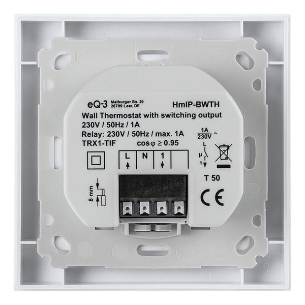 Homematic IP Wandthermostat mit Schaltausgang HmIP-BWTH – für Markenschalter, 230 V