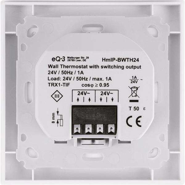 Homematic IP Wandthermostat mit Schaltausgang HmIP-BWTH24 – für Markenschalter, 24 V