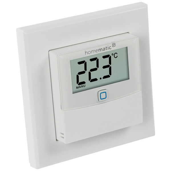 ELV Homematic IP ARR-Bausatz Temperatur/Luftfeuchtesensor mit Display HmIP-STHD, für Smart Home / Ha