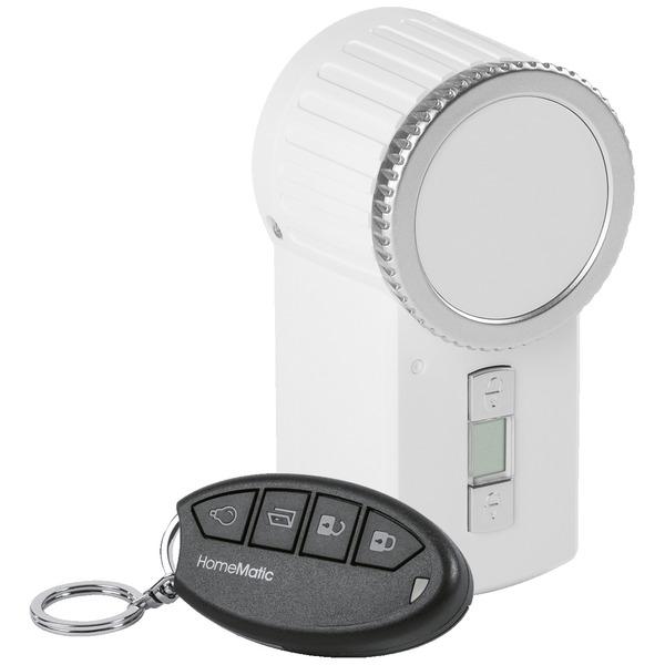 Homematic Funk-Türschlossantrieb KeyMatic, weiß inkl. Funk-Handsender HM-Sec-Key für Smart Home / Ha